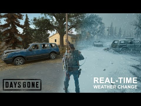 Days Gone PS4 - Unique Real Time Snowfall/Weather