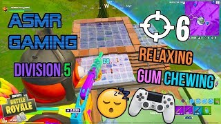 ASMR Gaming ???? Fortnite Relaxing Division 5 Grinding Gum Chewing ???????? Controller Sounds + Whispering ????