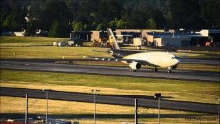 United Parcel Service A300F N131UP takeoff from Portland Airport PDX