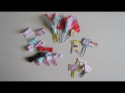 DIY Mini envelopes + paperclips