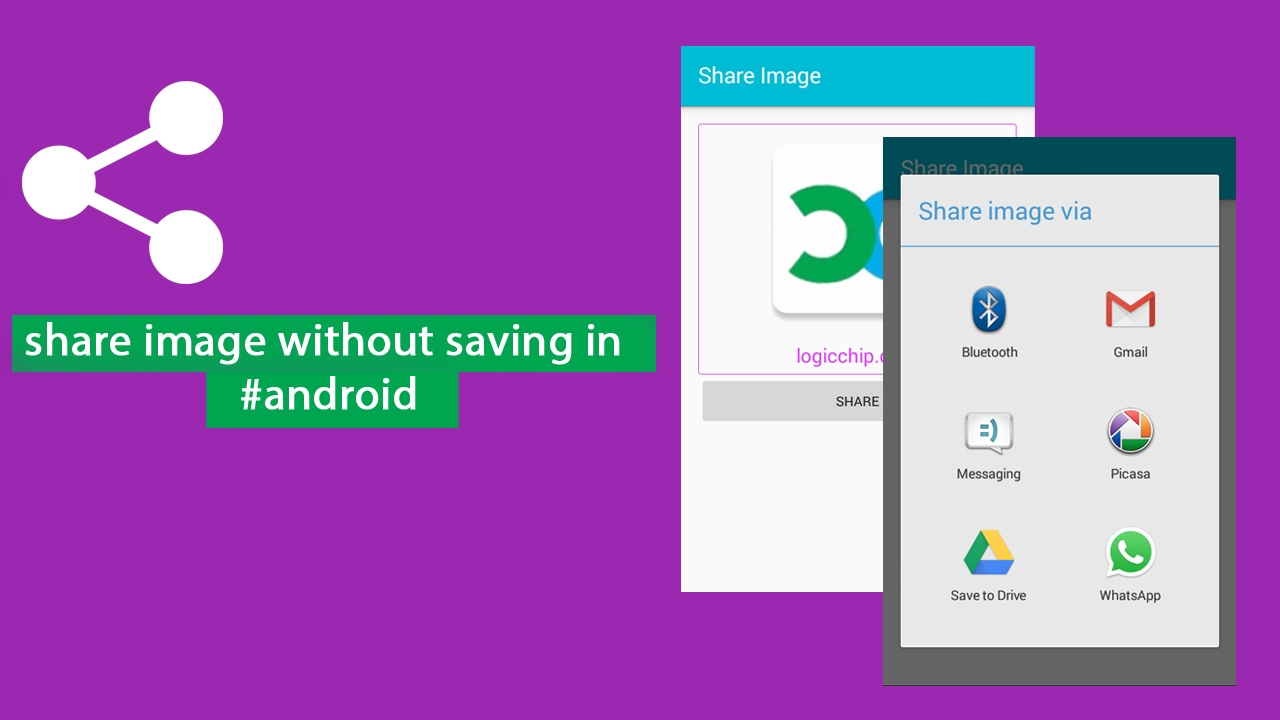 Share An Image Without Saving it in Android - Logicchip