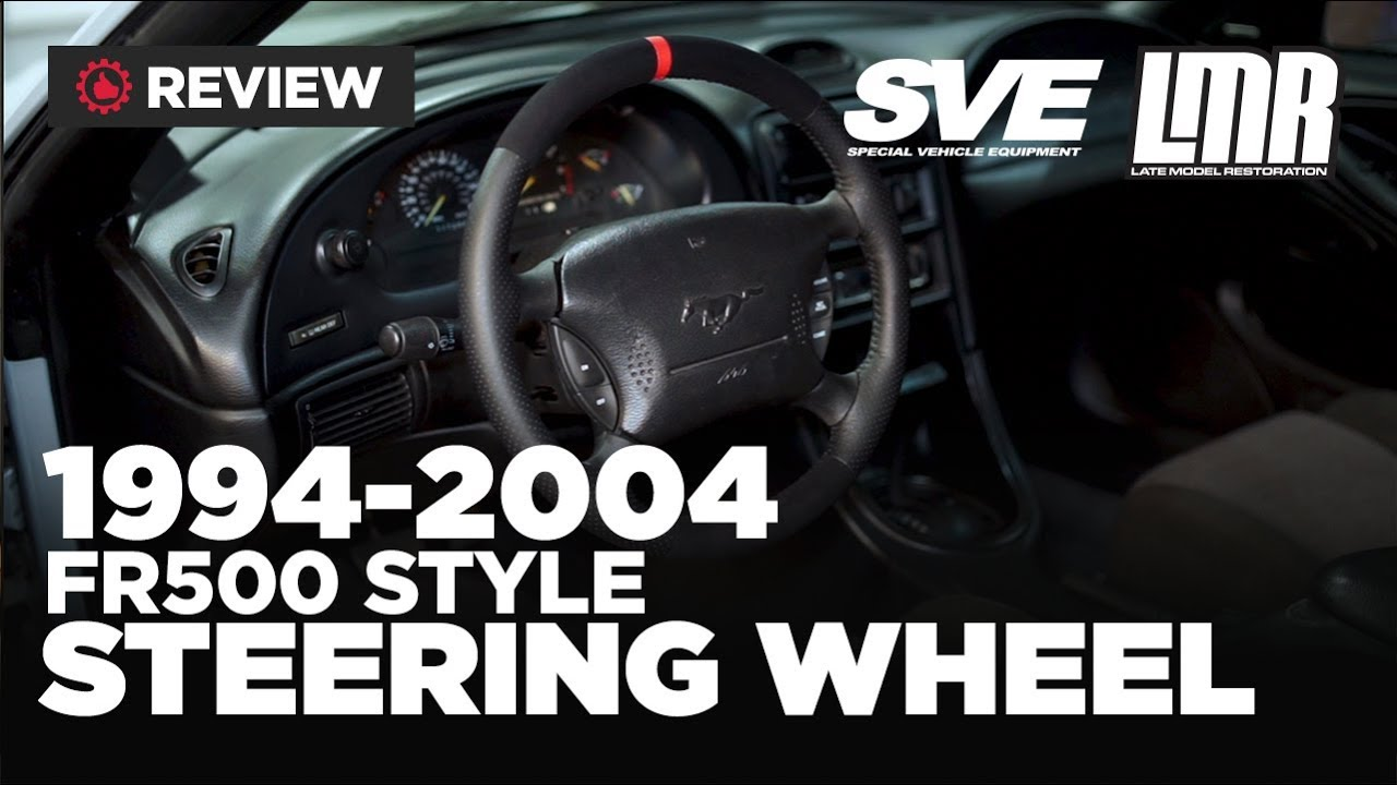 1994 2004 Mustang Sve Fr500 Style Steering Wheel W Red Sight Line