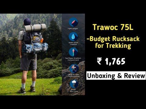 Budget-Friendly Trekking/Hiking Bagpack l ₹1,765 l Trawoc 75L