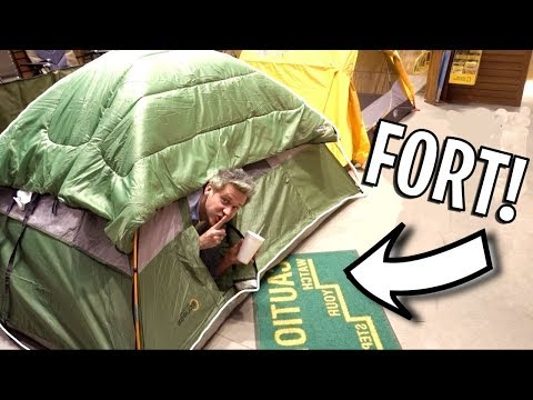 HIDDEN TENT FORT IN BASS PRO SHOPS!