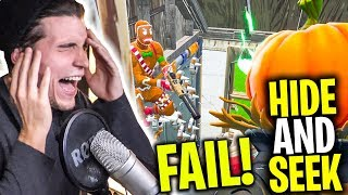 NOOB stirbt in FORTNITE 0 IQ Falle | Hide and Seek mit Paluten,Zombey & Maudado
