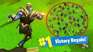 KILLING 50 PLAYERS in 1 SECOND as THANOS! - Fortnite
