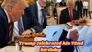 President Donald Trump's birthday cake by Singapore's Prime Minister Lee Hsien Loong |