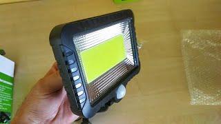 Oświetlenie zewnętrzne LED, oświetlenie ogrodu - Lampa Solarna 100 LED COB Czujnik ruchu, zmierzchu