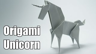 Origami Unicorn (Jo Nakashima)(How to make an origami Unicorn, Designed by Jo Nakashima (12/jul/2014) Dedicated to Camila Zeymer Support my channel!, 2014-07-21T04:15:56.000Z)