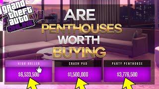 Gta Online ARE PENTHOUSES! Worth Buying? (GTA 5 Diamond Casino & Resort)