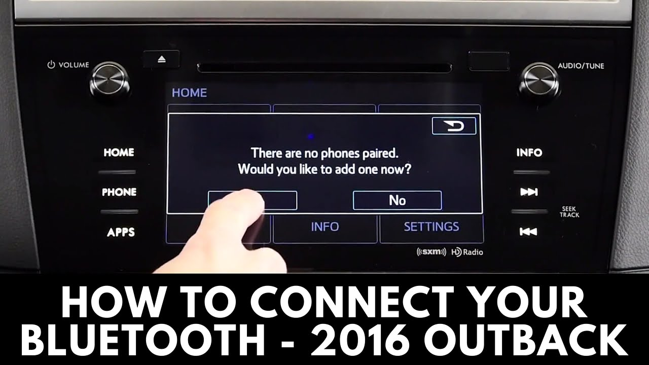 How to Connect the 2016 Subaru Outback to Bluetooth