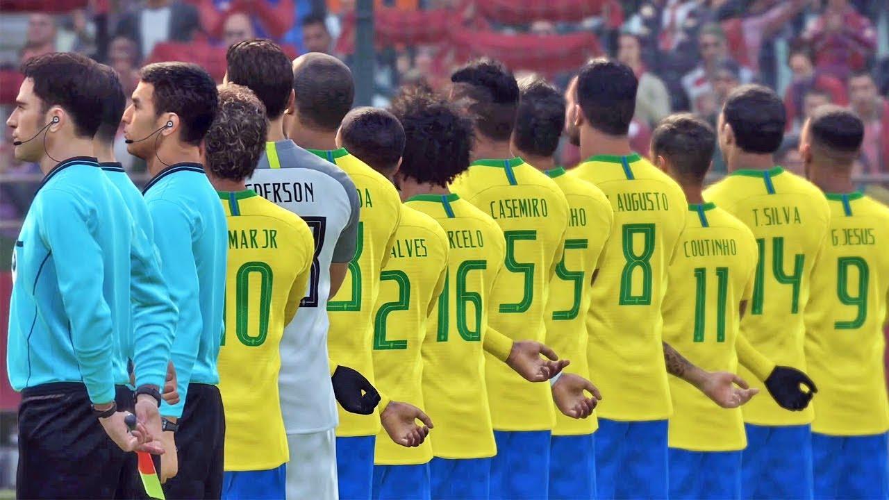 1ff59c70b Brasil X Sérvia  Copa do Mundo Rússia - Pro Evolution Soccer 2018 (PES 2018)