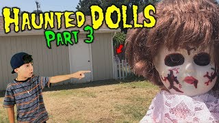 Evil Doll Haunted me at the park with CREEPY CLOWN DOLLS like Scary Halloween Ghosts - Part 3