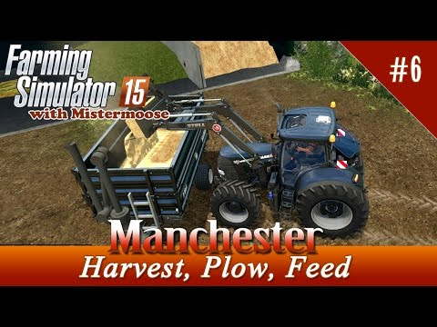 Farming Simulator 2015 - Manchester  Ep06 - Harvesting Oats, Plowing and more