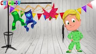 用PJ面具學習色彩有趣的外星人舞蹈歌曲為孩子們null