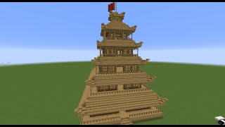 Tuto Construction Temple Chinois Minecraft