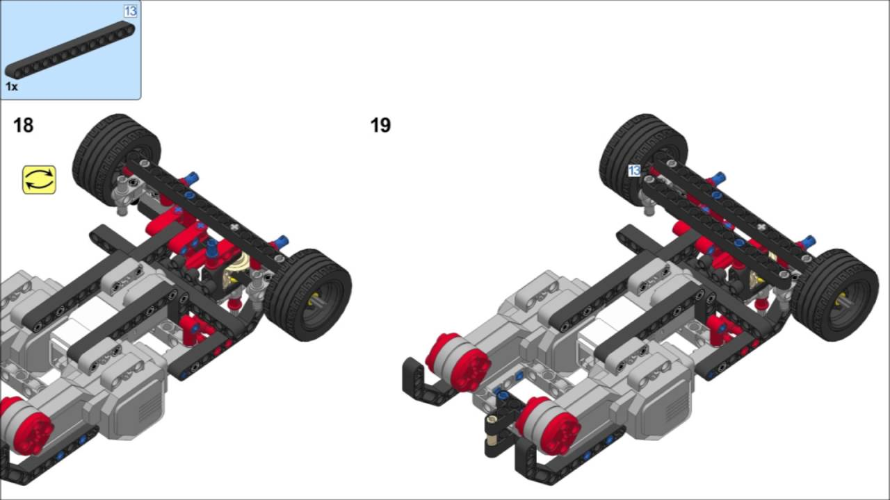 Lego Mindstorms EV3 31313 - RAC3 TRUCK Building ...