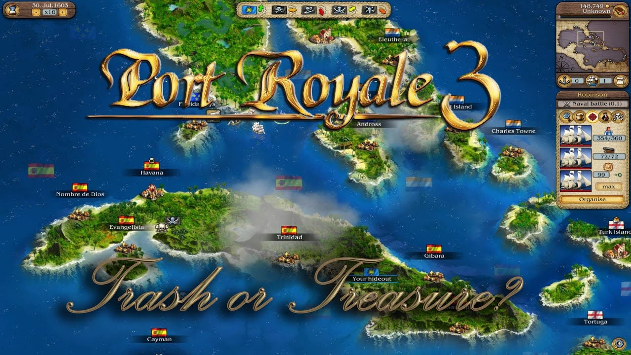 port royale 3 karte Port Royale 3   Trash or Treasure? [PS3] [Stream Recording]   YouTube