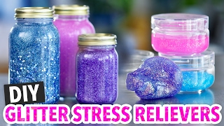 Calming Glitter Jars and DIY Slime