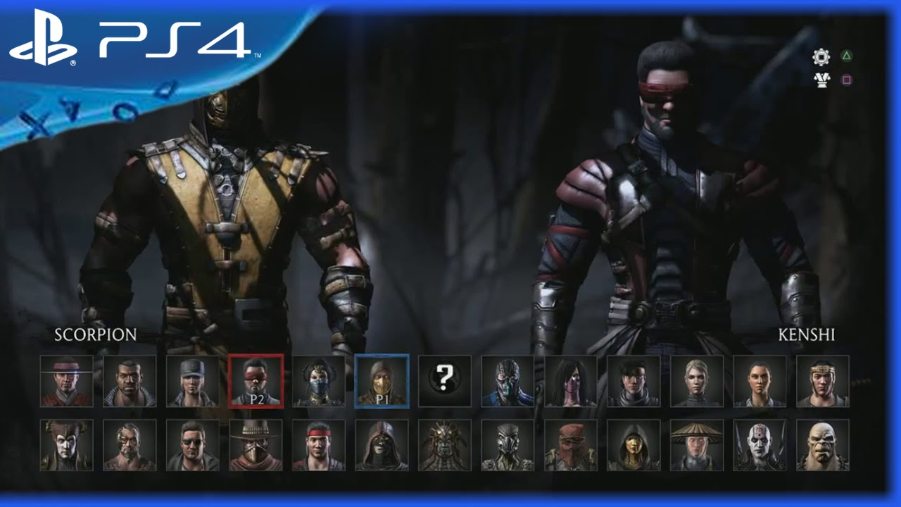 Mortal Kombat X All Character Roster Ps4 Youtube
