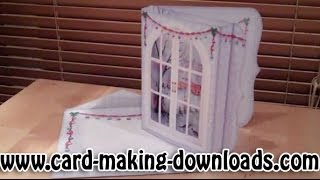 How To Make A Window Shadow Box Fold Card Www.card-making-downloads.com