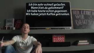 Немецкая грамматика: прошедшее время в немецком языке! Простое объяснение Perfekt! Урок 27.1