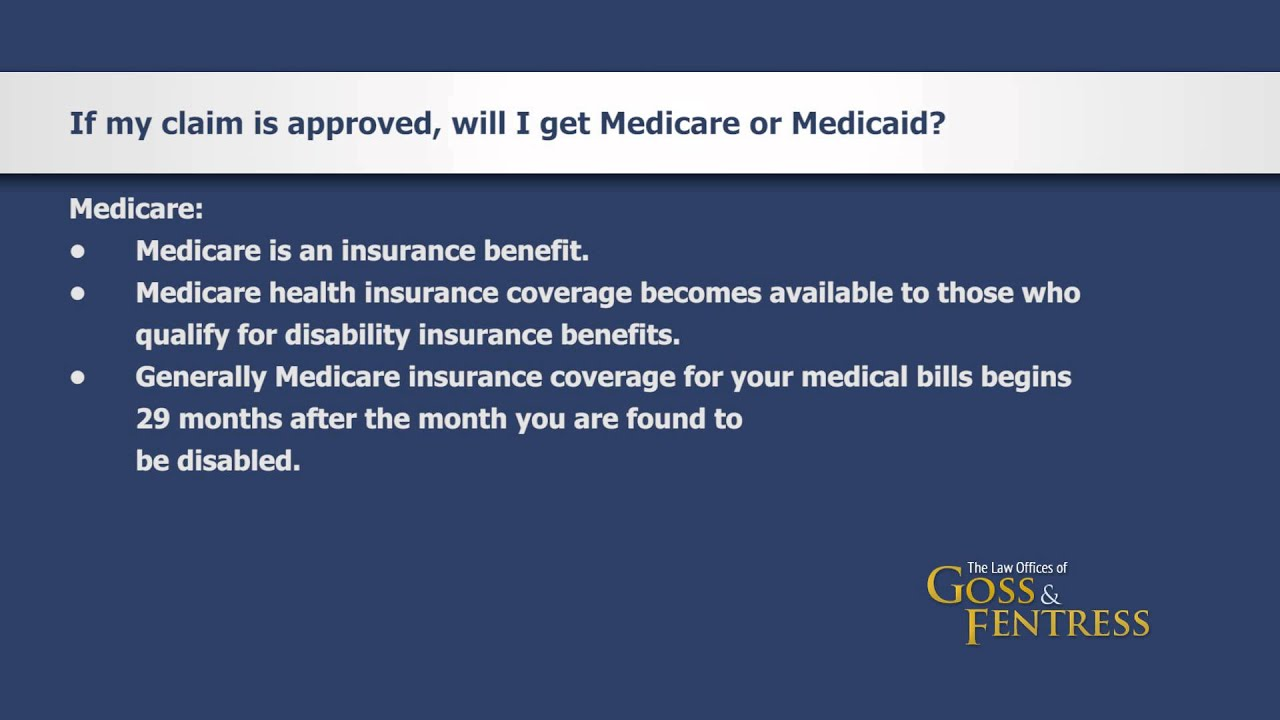 If My Social Security Disability Claim Is Appoved Will I Get Medicare Or  Medicaid