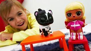Лол - Распаковка Петс. Куклы Лол - Мультики для девочек