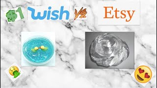 $1 WISH SLIME VS $1 ETSY SLIME! Which One Is Better?