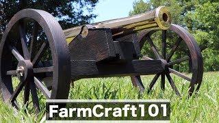 Building a Historic Cannon Replica: The Carriage.  FarmCraft101