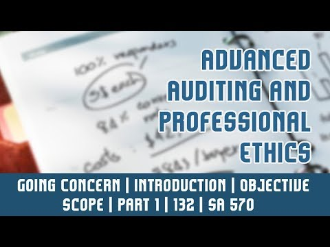 132 | SA 570 | Standards On Auditing | Going Concern | Introduction | Objective | Scope | Part 1