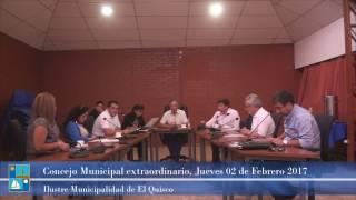 Concejo Municipal extraordinario Jueves 02 de Febrero 2017