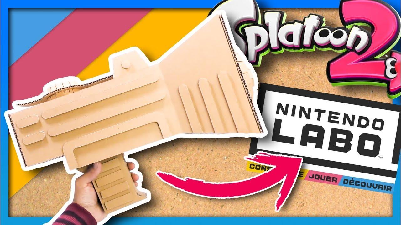 Splatoon 2 Weapons In Cardboard Splatoon 2 X Nintendo Labo