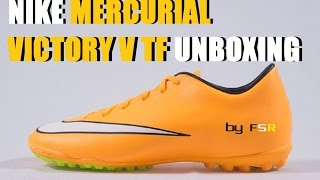 Unboxing Nike Mercurial Victory V TF Laser Orange:Alexis Sanchez, and Ibrahimovic Boot