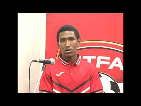 T&T Under 17 Captain John-Paul Rochford speaks at TTFA Press Conference