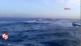 GREEK VS TURKISH COAST GUARD DOGFIGHT IN THE AEGEAN - 24TH JANUARY 2014