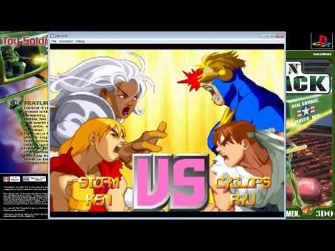 X-Men vs. Street Fighter - Storm/Ken - 5 Round - Master(8STAR) - PS1 - Capcom