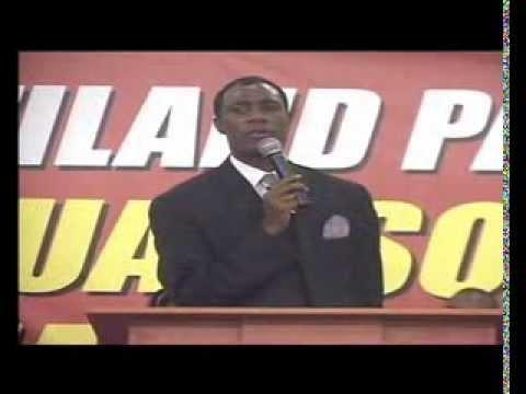 Rev David Chaliyumba at NATIONAL PRAYER  Swaziland 2012
