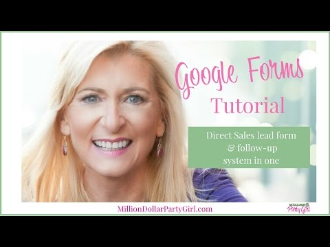 Google Forms Tutorial: For Direct Sales & Party Plan Reps