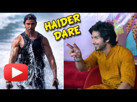 Shahid Kapoor Wants To Give Hrithik Roshan Haider Dare | Haider Book Launch