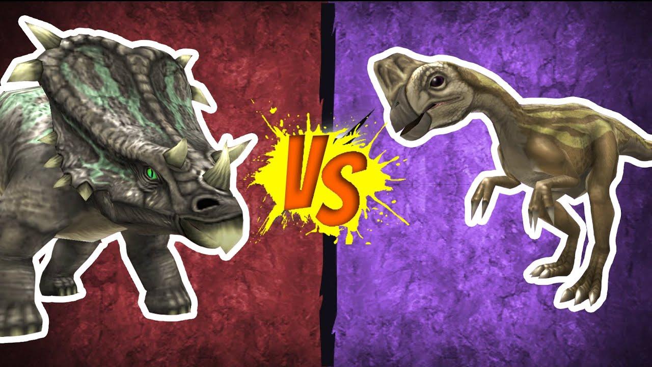Chasmosaurus vs. Oviraptor - Epic Dino Battles - YouTube