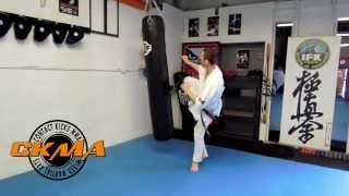 Karate Kyokushin heavy bag training