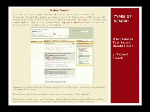 TLG Text Search