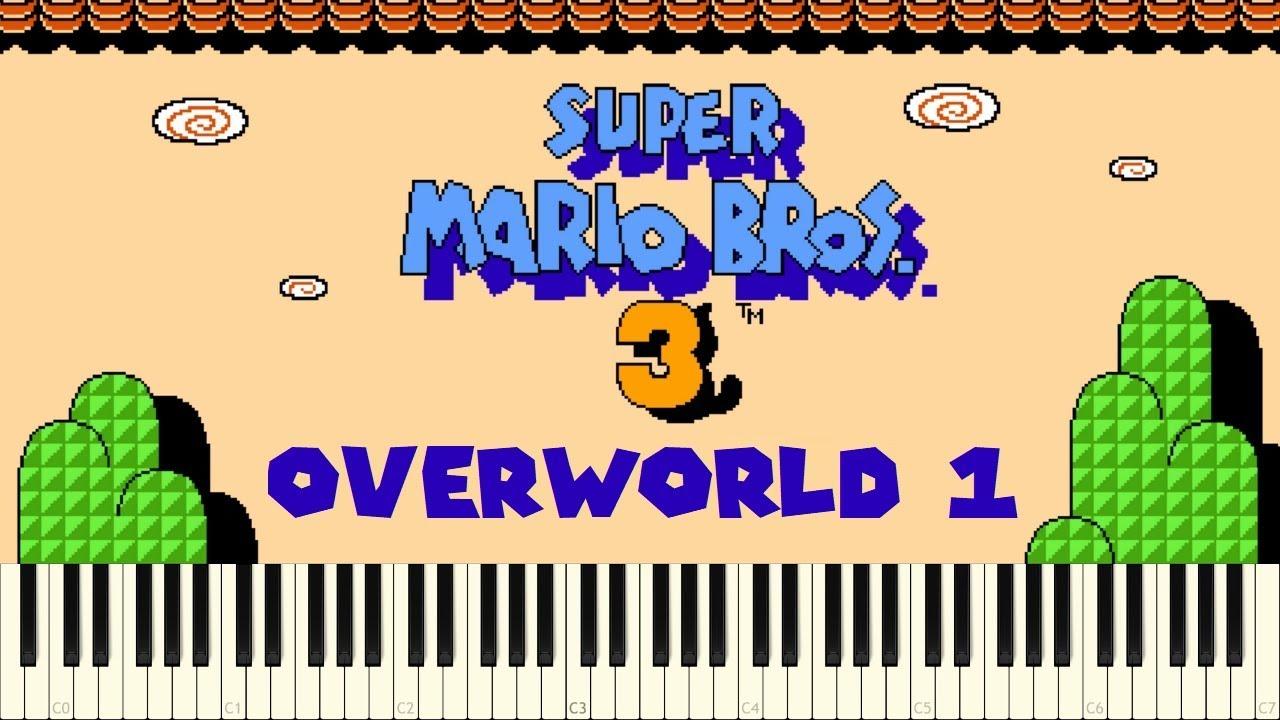 ♪ Super Mario Bros  3: Overworld Theme 1 - Piano Tutorial