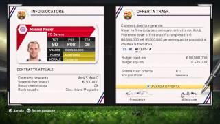 """FIFA 15: come comprare  giocatori gratis """"carriera allenatore""""."""