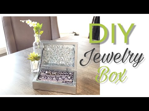 DIY Jewelry Box| DIY Dollar Tree Decor| Dollar Tree DIY| DIY Jewellery Box...only $7