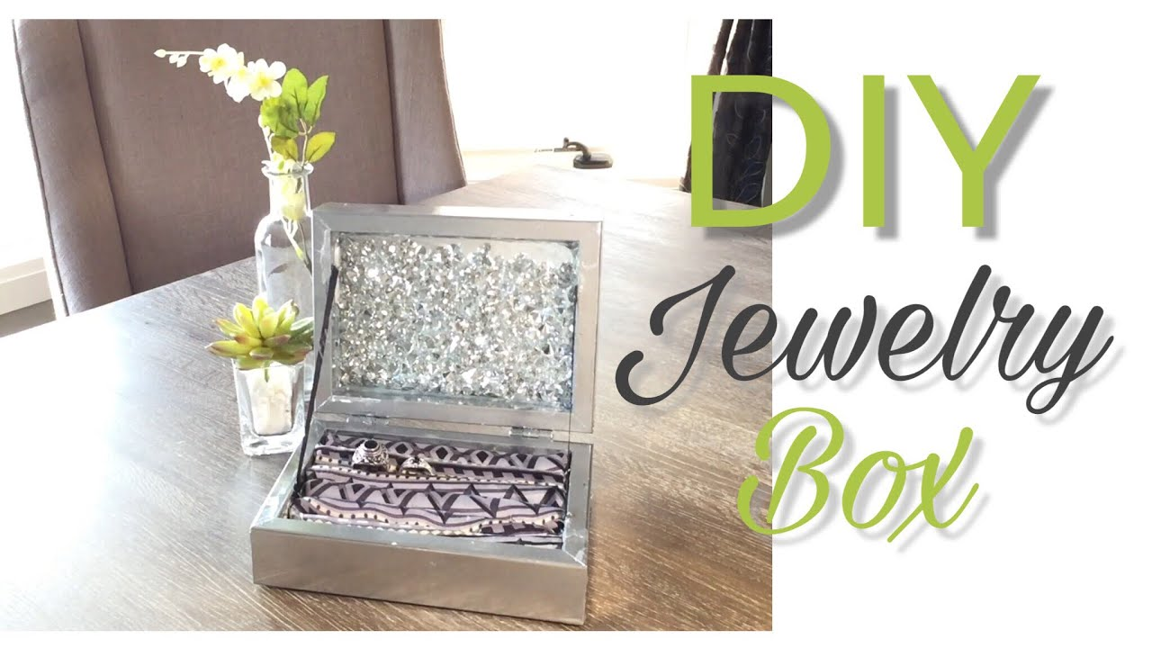 DIY Jewelry Box DIY Dollar Tree Decor Dollar Tree DIY DIY