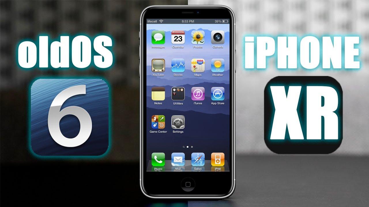 Как выглядит старая iOS 6 на iPhone XR. Очень интересное приложение oldOS.
