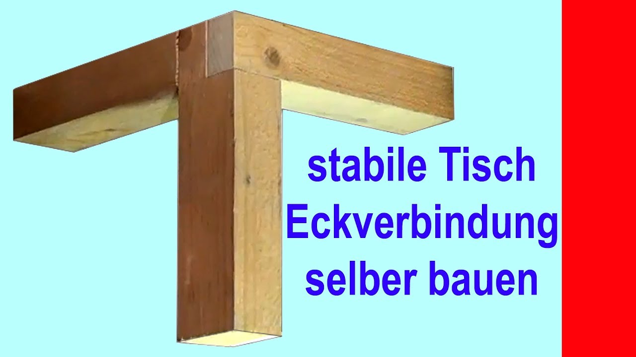 ges gte eckverbindung aus holz f r tisch und regale kurzfassung youtube. Black Bedroom Furniture Sets. Home Design Ideas
