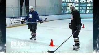 Hockeyot On Ice Hockey Training-forward Backward Agility Test